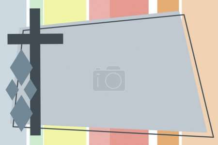 Photo for Cross Backgound Frame - Royalty Free Image