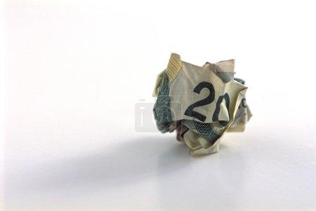 Crumpled Hundred Dollar Bill