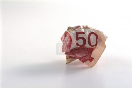 Crumpled Fifty Dollar Bill