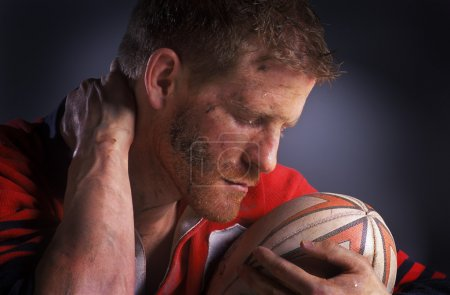 Rugby Player With Ball...