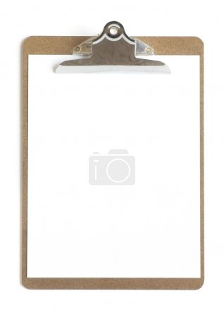 Blank Paper On A Clipboard