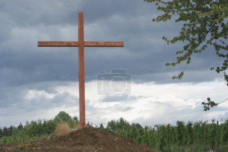 Photo for Cross On A Hill - Royalty Free Image