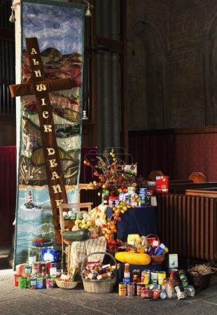 Non-Perishable Food Items In A Church