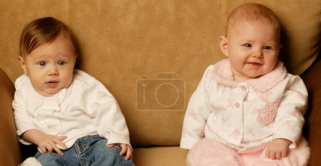 Photo for Babies Sitting Together - Royalty Free Image