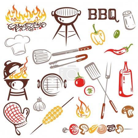 BBQ, Grilling Set Vector