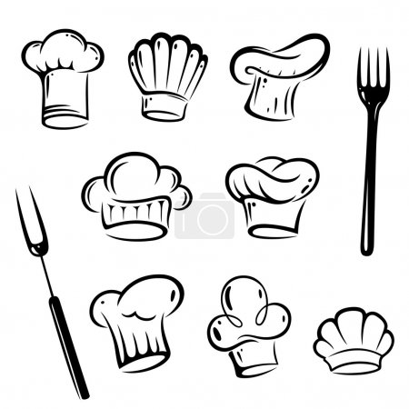 Cook, chef hats