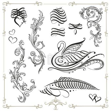 Calligraphy, vintage, decoration