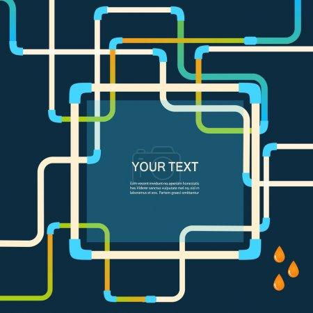 Illustration pour Couleur vectorielle conception abstraite embrouillé tuyaux eps . - image libre de droit