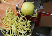 Apple on an Apple Peeler