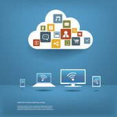 Cloud computing concept design layout
