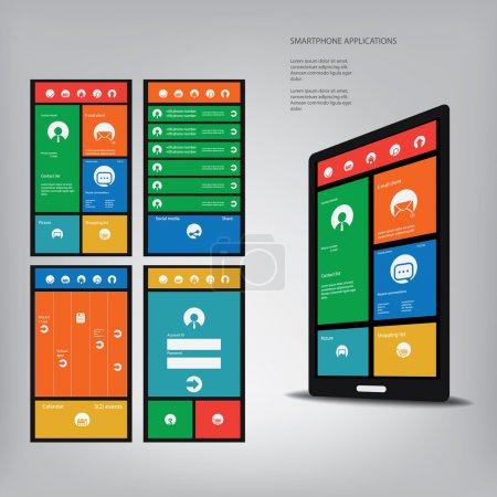 Smartphone with metro style graphic user interface