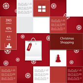 Christmas sales infographic vector design