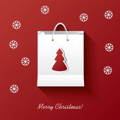 Christmas shopping vector illustration concept with shopping bag suitable for christmas sales promotion