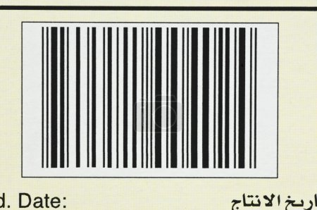 Close-up of a bar code
