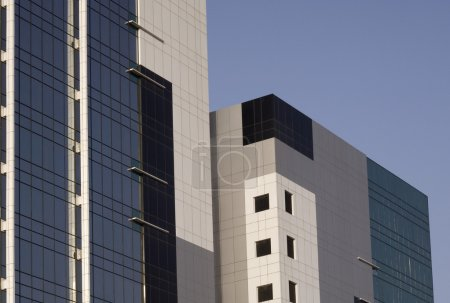 Low angle view of office buildings, Gurgaon