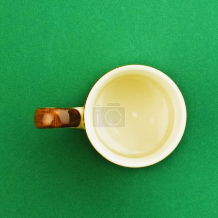High angle view of a tea cup