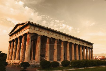 Photo for Colonnade of an ancient temple, Parthenon, Acropolis, Athens, Greece - Royalty Free Image
