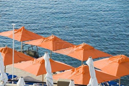 Beach umbrella at the seaside