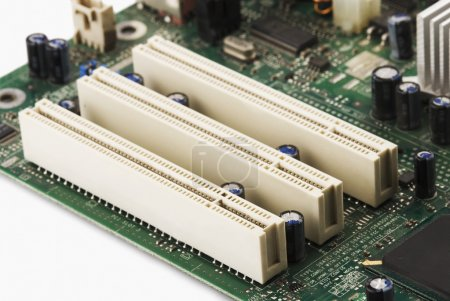 Photo for Close-up of pci slots on a mother board - Royalty Free Image