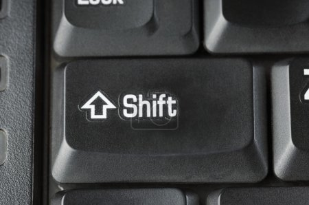 Shift key of a computer keyboard