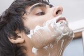 "Постер, картина, фотообои ""человек, бреющийся"""