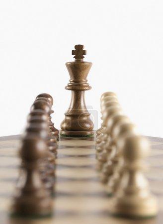 Foto de Rey del ajedrez con su rey - Imagen libre de derechos