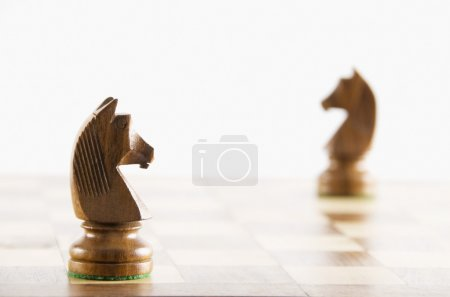 Chess knights on a chessboard