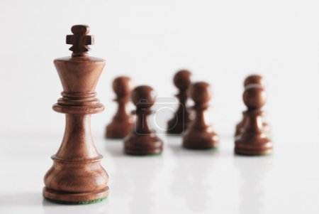 King with chess pawns
