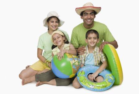 Family enjoying on vacations