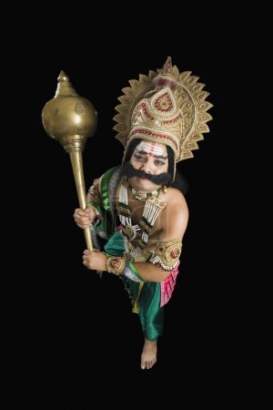 Man dressed-up as Ravana