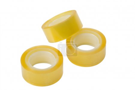Three rolls of adhesive tapes
