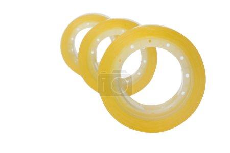 Three rolls of adhesive tapes