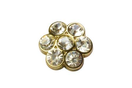 Brooch made of gemstones
