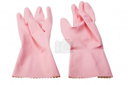 Photo for Close-up of a pair of washing up gloves - Royalty Free Image