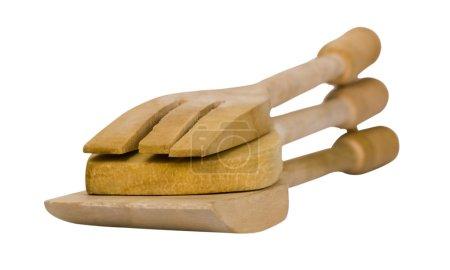 Close-up of wooden utensils