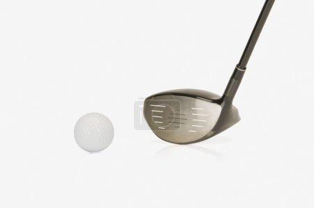 Closeup of a golf club