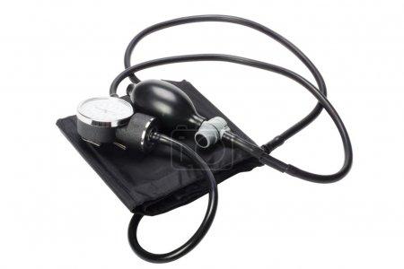 Close-up of a blood pressure gauge