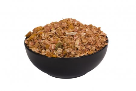Close-up of a bowl of mixed flakes