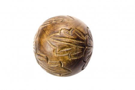 Close-up of a decorative wooden ball