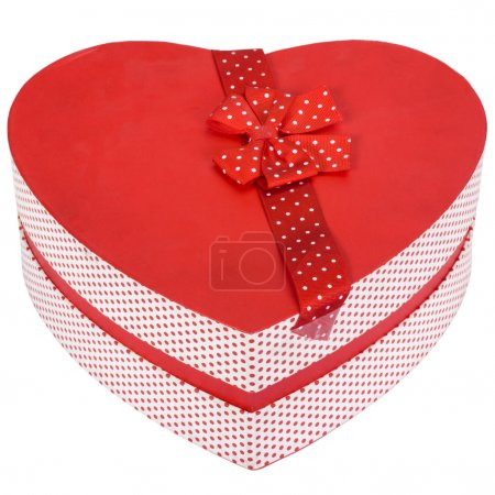 Close-up of a heart shaped gift box