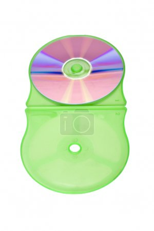 Close-up of a compact disc in a CD case