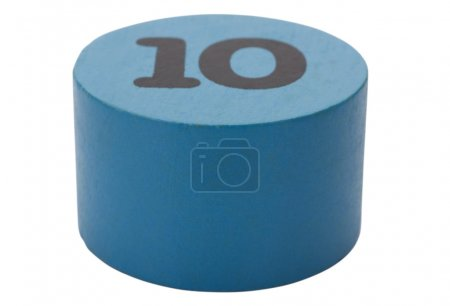 Number 10 in a circular shape block