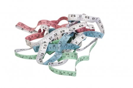 Close-up of tape measures