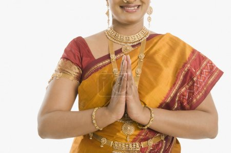 Indian woman greeting
