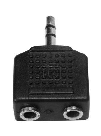 Close-up of a 3.5mm splitter