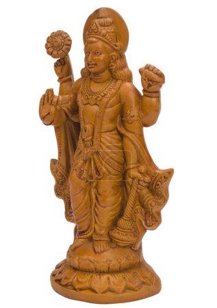 Photo pour Gros plan d'une figurine du Seigneur Vishnu - image libre de droit