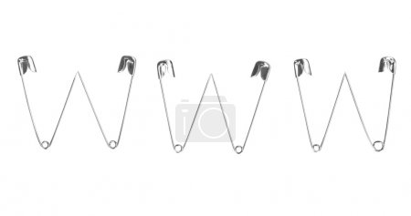 World Wide Web acronym made of safety pins