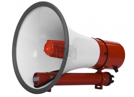 Close-up of a megaphone