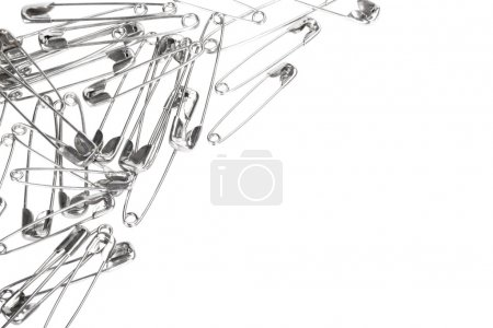 Close-up of safety pins