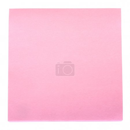 Photo for Close-up of a blank adhesive note - Royalty Free Image